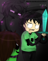 .:FanArt- There is a nice Diamond sword there:. by Feyaan