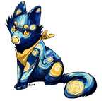 Starry Night Painted Pup [closed] by Lakeore