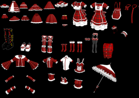 Plaid Lolita Set by MMDxDespair