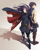 Lucina and Chrom by Blue-Memo