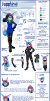 SAPPHIRES REFERENCE SHEET by PinkyFreak247