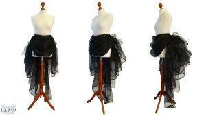 For SALE - Black Bustle Front by Larva by Eisfluegel