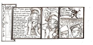 Grad Comic- newspaper thoughts by ExiledChaos