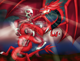 Colossal Titan vs The sky dragon of Osiris by D3-shadow-wolf