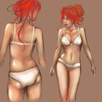 Anatomy and color study by HaitiKage