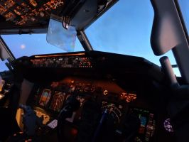 Cockpit at Dusk by babynuke