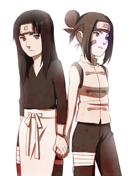 Rin and Tenten by BayneezOne