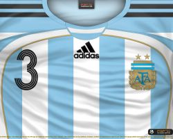 Argentina home shirt 2006 by P3P70