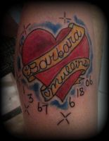 heart and banner by UndergroundTattoos