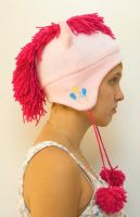 Pinkie Pie hat with cutie mark by kitchycat