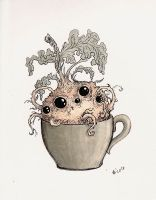 Monsters with cups - root by Alliot-art