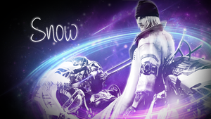 Final Fantasy 13 SNOW Wallpaper FREE by DieVentusLady