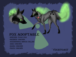 Toxic Fox Adoptable (CLOSED) by Yourtoast