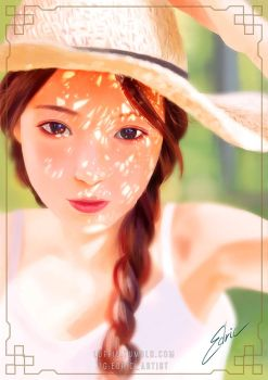 Straw Hat Girl by luffie