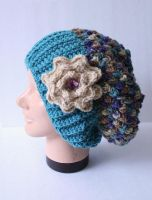 Variegated bobble hat by DarkRaven17