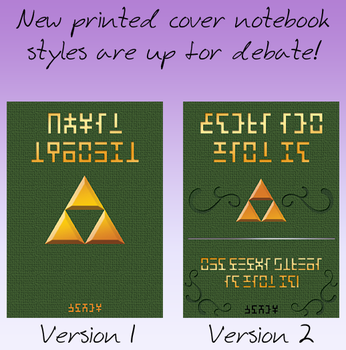 New Notebook cover styles by Sarinilli