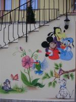 Fragment of the Walt Disney wall by Mista-Ni9e