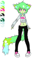 Zombie Kitty Adopt {Sold} by DixieDemon1