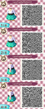 Lace Top Ruffle Skirt Teal QR Code by ChibiBeeBee