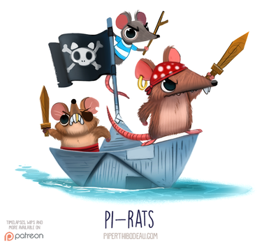 Daily Paint 1542. Pi-rats by Cryptid-Creations