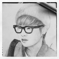 Xiumin Sketch by Maneca