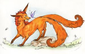 Red fox by Alkven