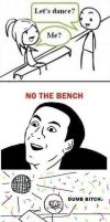 NO, THE BENCH by cosenza987