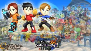 SSB4 Wallpaper Mii Fighters by Mazznick