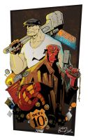 Hellboy and Goon by itemb