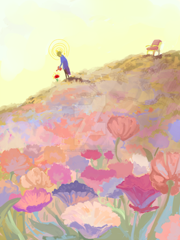 the little prince and the flower by MICHELANGELO12