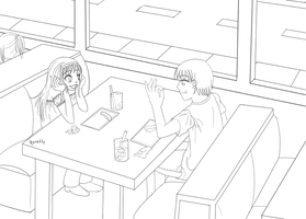 Pizza -lineart- by Funsized-Not-Short