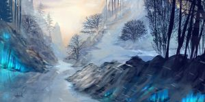 Snow Landscape by d1eselx