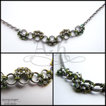 Bubble Weave Necklace by ArmoredKoi