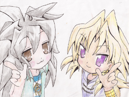 Bakura and Marik- Lucky Star Cross by CookieRansacked