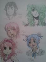 Sketches: Pema and Some Random Characters by Millie-Rose13
