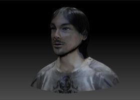 Nate's 3D Self Portrait Textured 3 Angled View. by Natefurry