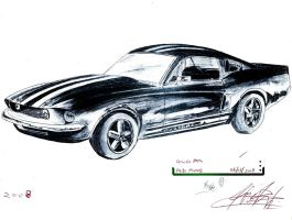 Ford Mustang gt 1967 by SamanthaErikArt27