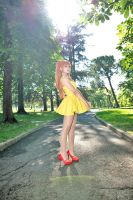 Yellow dress Asuka by LilithNagisaIV