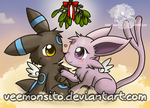 New year Umbreon and Espeon by Veemonsito
