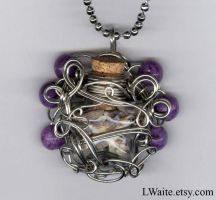 Silver Star Sugilite Necklace by LWaite