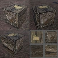 Crate And Texture by Sonnysketch