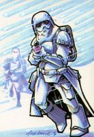 Snow Trooper sketch card by Axebone