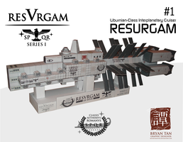 Resurgam Interplanetary Cruiser Paper Model by RocketmanTan