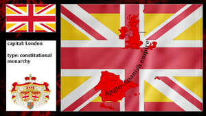 Anglo Spanish empire (mapping) by DimLordofFox