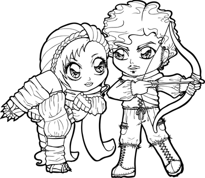 my punch and your arrow by Chibivi-Linearts