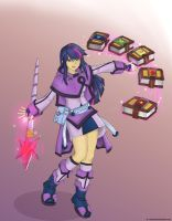 Humanized Twilight Sparkle Mage by ValorNomad