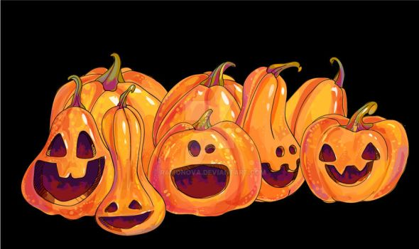 Pumpkins by Ramonova