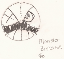 Monster basket ball by Dysfunctional-H0rr0r