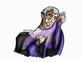 Frollo and His Beloved Scarf ^^ by Lady-in-Ink