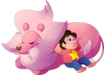 Steven And Lion by Riboo